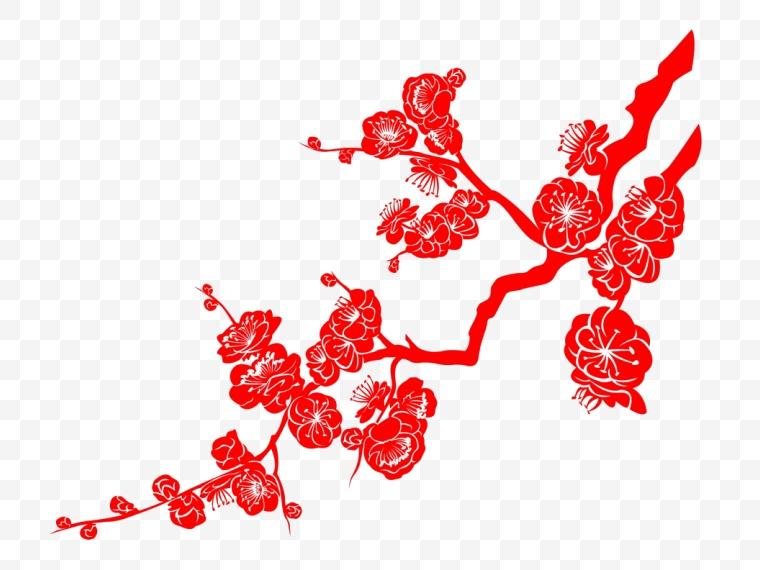 红梅 梅花 中国风 新年 新春 春节 花