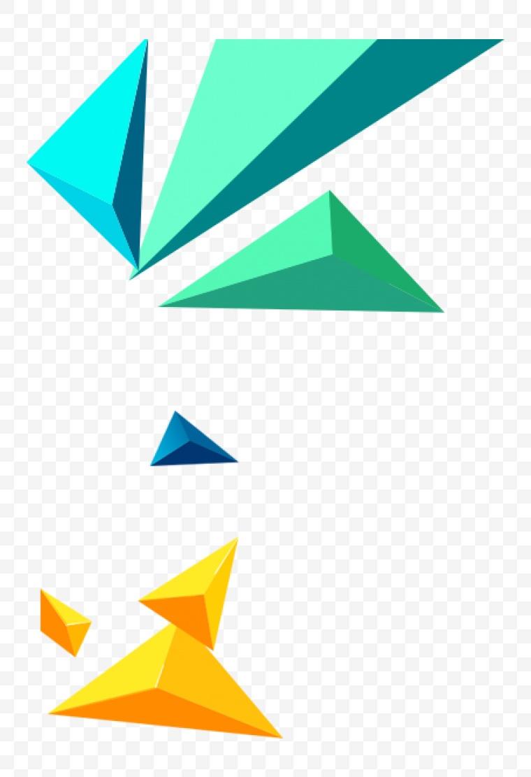 漂浮元素 几何图形 几何 立体几何 漂浮