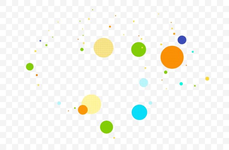 漂浮元素 圆形图案 漂浮 活动