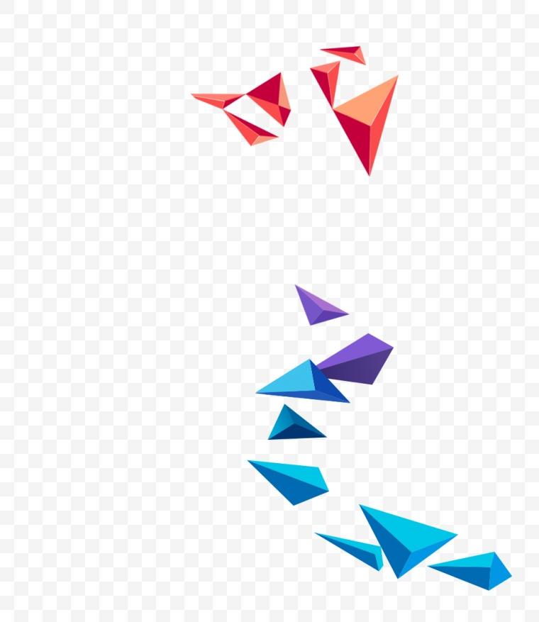 几何图形 漂浮元素 几何 立体几何 三角几何