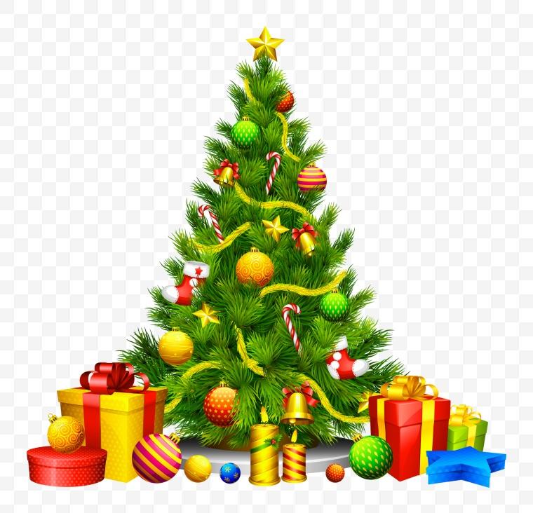 圣诞节 圣诞树 礼盒 圣诞