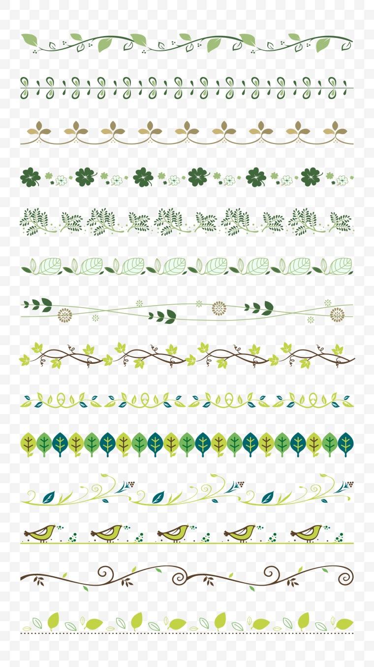 植物花边边框矢量素材