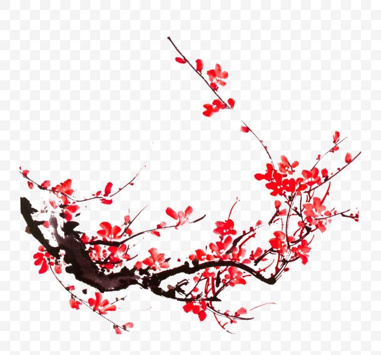 古典梅花 梅花 古典花 古典水墨梅花 水墨梅花 古典腊梅 腊梅 中国风 古典 新年 新春