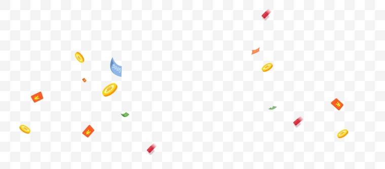 漂浮金币 漂浮红包 金币 红包 漂浮元素 设计素材