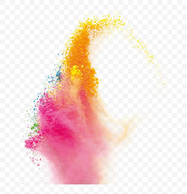 彩色粉末 粉末 粉尘 效果素材