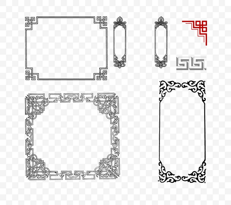 边框 中式边框 古典边框 中式古典 中国风 中式 古典