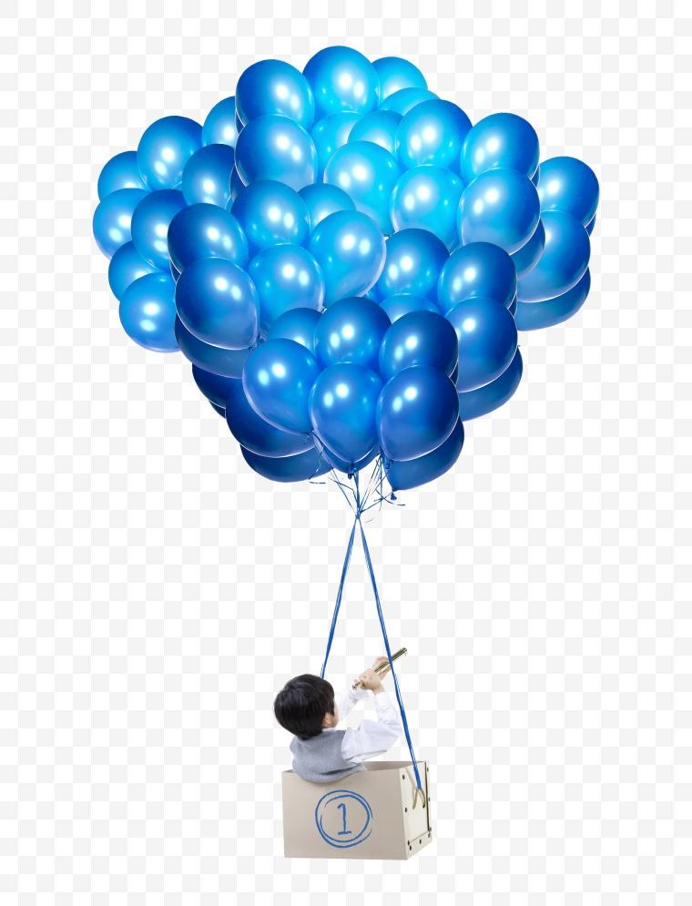 气球 小孩 蓝气球 活动 节庆 开业 生日