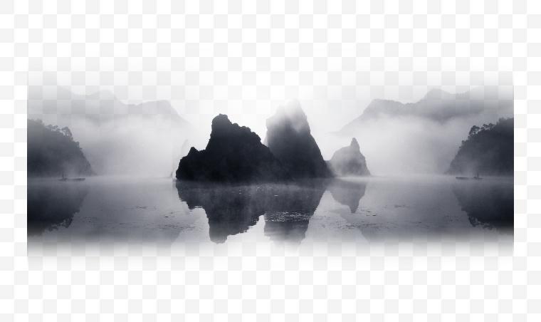 山水 山水画 水墨 水墨山水 中国风 水墨画