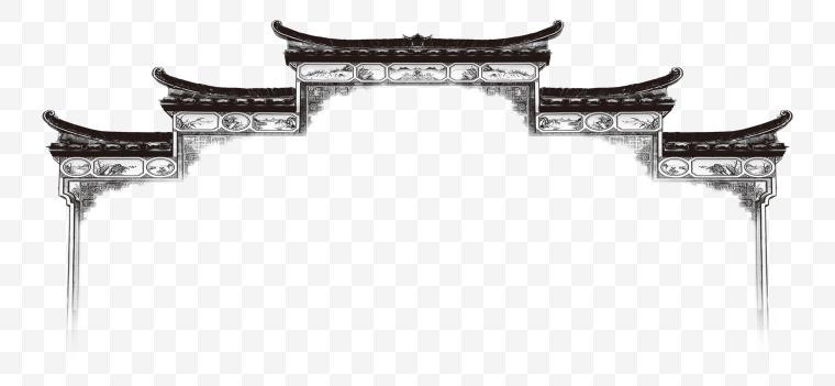 中国风 建筑 房檐 屋檐 围墙 徽派建筑 古典建筑