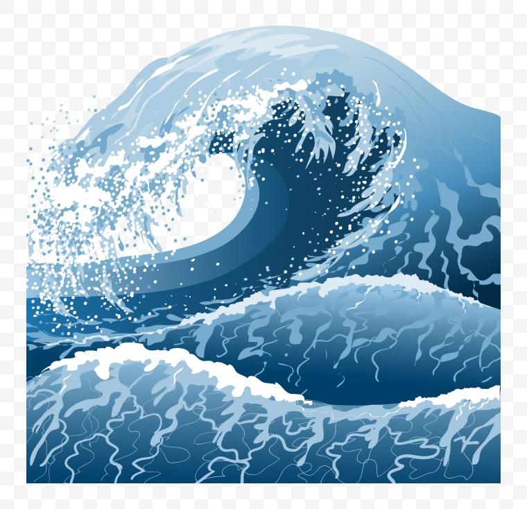 水 水面 水波 海水 浪花 浪 卡通水 水卡通