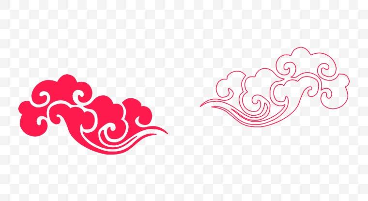 中国风 祥云 祥瑞 图案 花纹 吉祥 中国元素 象征 新年 年货节