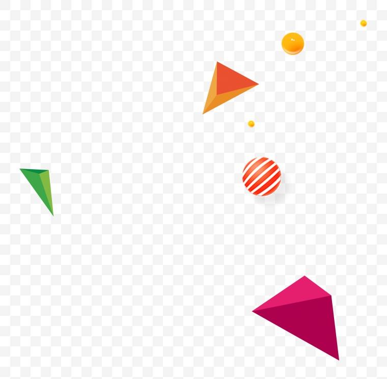 三角几何 漂浮元素 设计元素 几何 漂浮几何