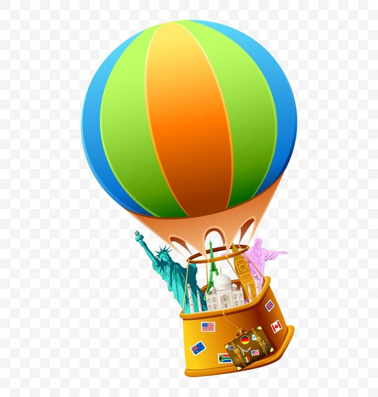 旅行 旅游 休闲 度假 旅行标识 标志 图案 热气球