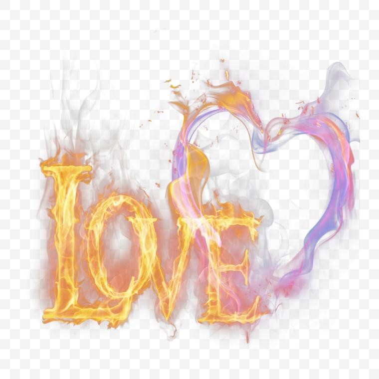 火焰 火 火苗 火花 艺术 渲染 心形 创意 爱情