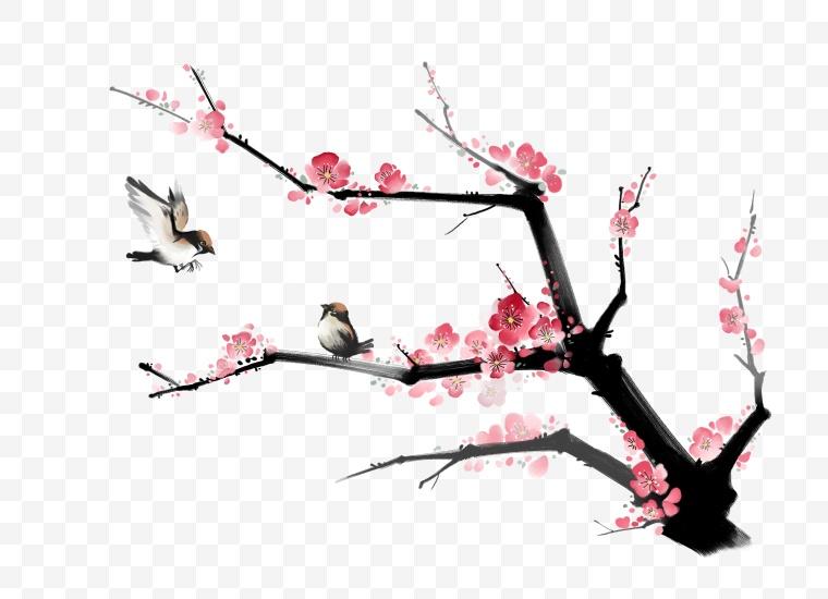 水墨梅花 水墨 梅花 腊梅 中国风 新春 新年 春节