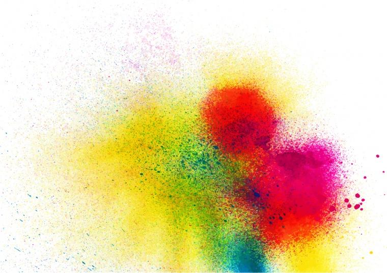 喷溅颜料彩色矢量背景图素材