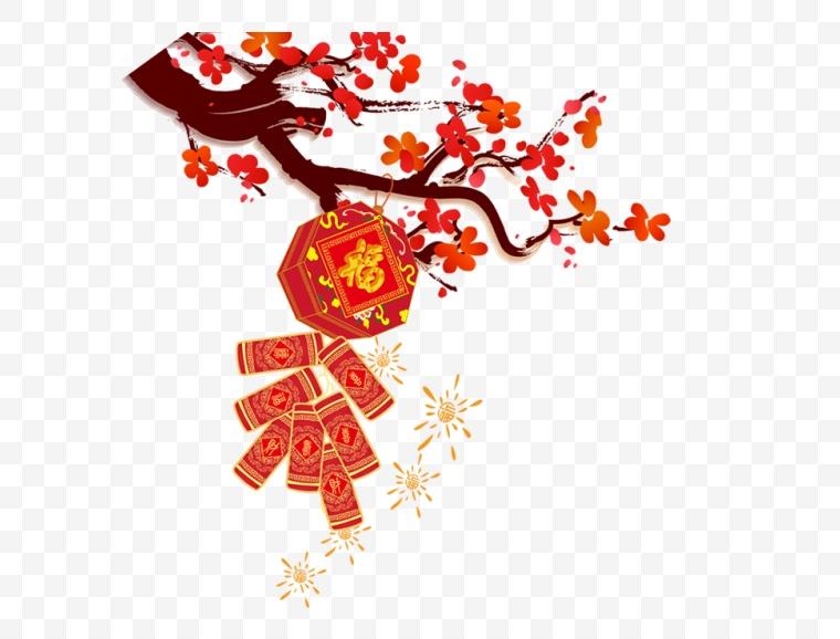 古典梅花 古典 梅花 中国风 新年 新车 春节 年货节 年味 过年 鞭炮 炮竹