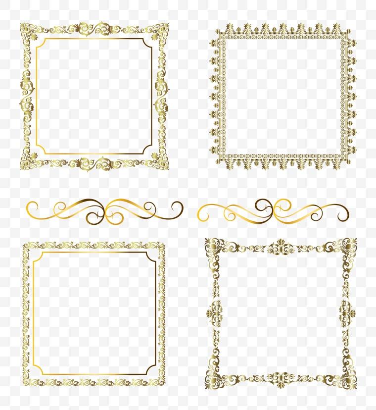 花纹边框 花纹 边框 金色花纹边框 高贵花纹