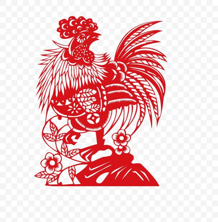 鸡剪纸 鸡 剪纸 2017 鸡年 2017鸡年 新年 春节 新春 2017新年 公鸡