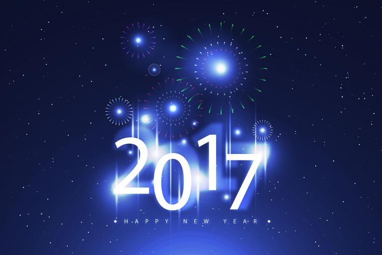 新年 新年背景 元旦 元旦背景 元旦节 2017 2017年 烟花 烟火 蓝色背景 蓝色 背景 背景图