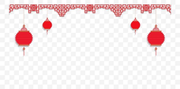 古典花纹边框 古典 古典边框 古典花纹 边框 中国风 新年 新春 春节 年货节 灯笼