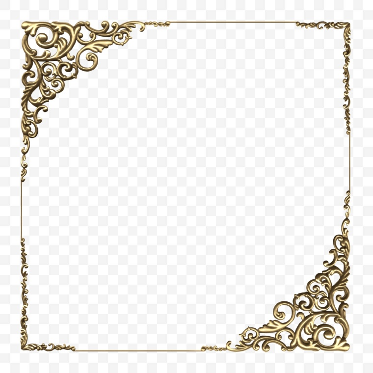 边框 长方形 花纹 金属边框 框架