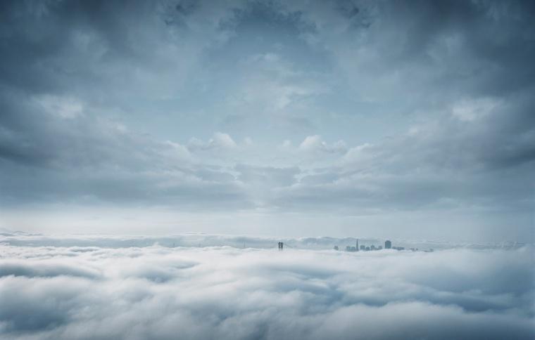 云层之上 云层 云 天上 天