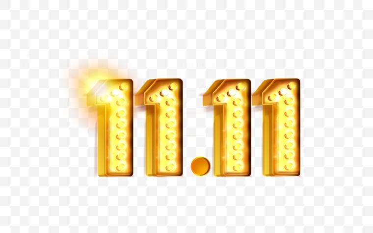 双十一艺术字 双十一 双11 1111 艺术字 立体字