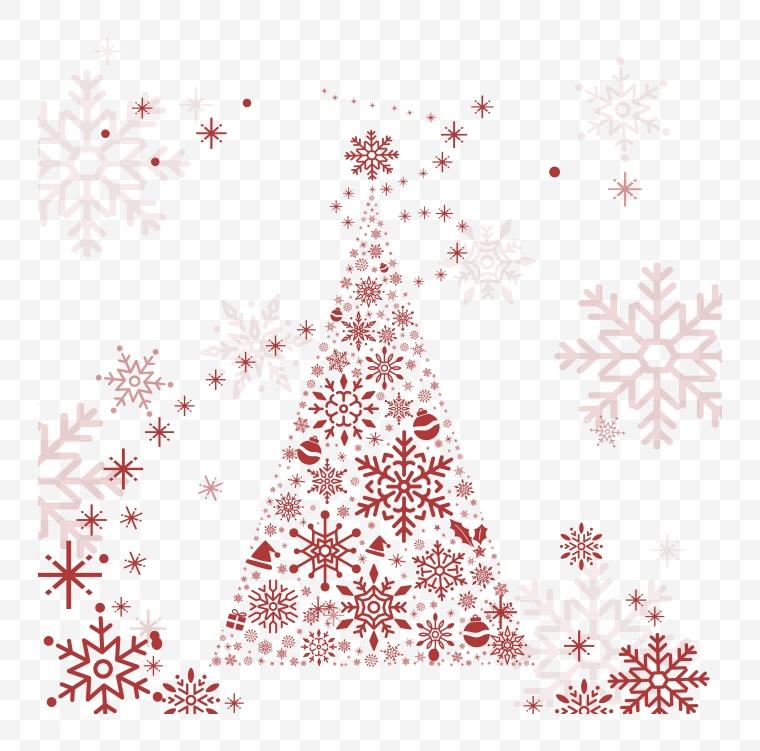 矢量雪花 雪花 冬天 冬季 冬 圣诞节 圣诞 圣诞树